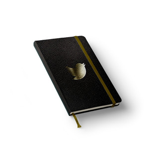 Twitter Leather Notebook