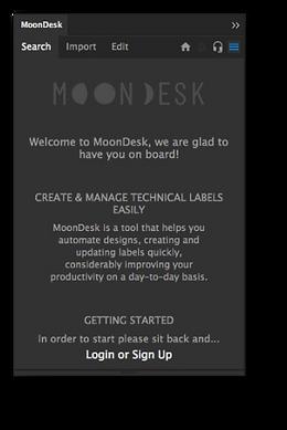 Moondesk panel