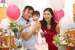 Kathy, husband and daughter