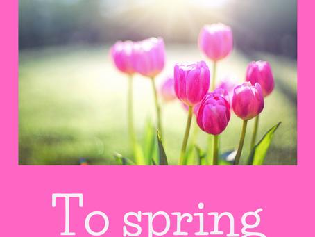 Выражения с глаголом to spring