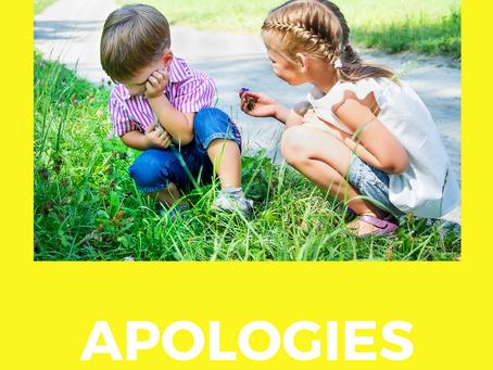 Фразы для извинения