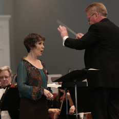 Maria Jette with Cary conducting