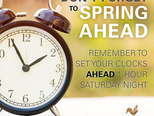 Reminder: Daylight Savings Time