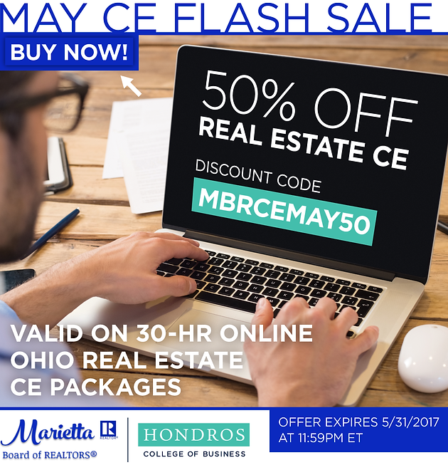 Save 50% on Ohio Real Estate Continuing Education online