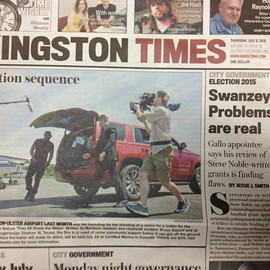 Front page of the @kingston.times last s