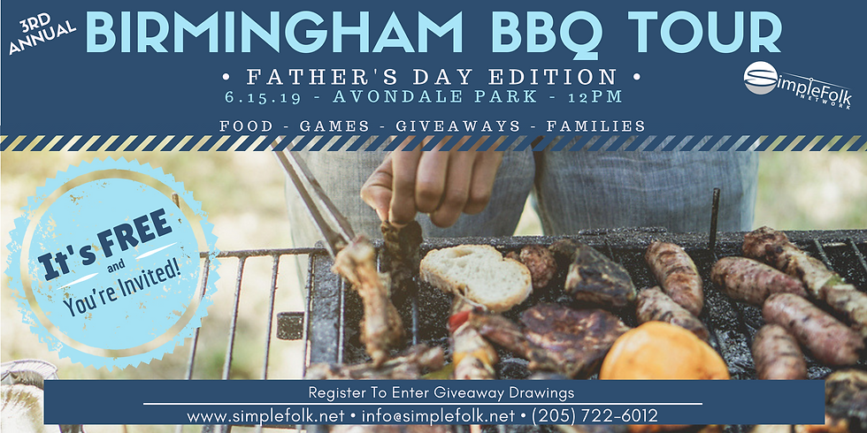 3rd Annual Birmingham BBQ Tour (Father's Day Edition)