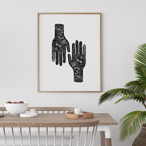 Etched Hands - Black