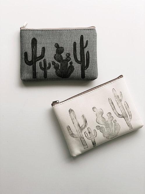 Quad Cacti Zipper Pouch