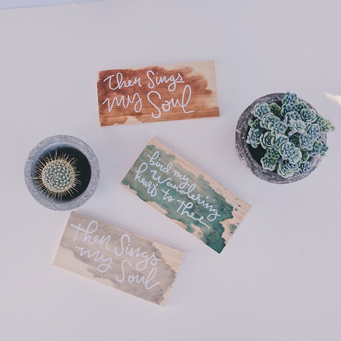 Water Color Hymn Desk Decor