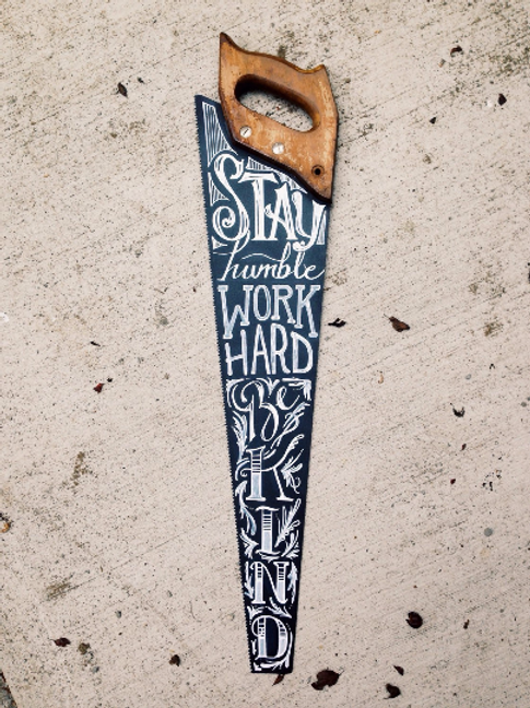 Chalkboard  Hand Saw