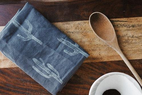 copy of Cactus Tea Towel - Grey Linen