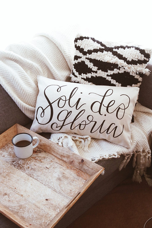 Soli Deo Gloria Pillow Cover