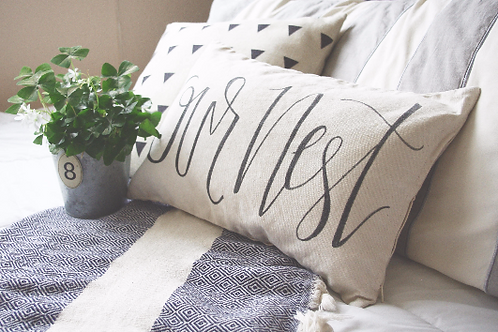 """Our Nest"" Pillow Cover"
