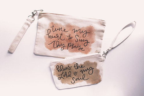 Hand Lettered Canvas Pouch...