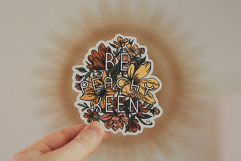 Peachy Keen Sticker