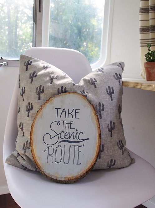 Take the Scenic Route Sign