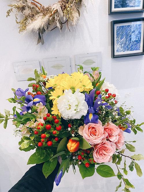 Bouquet aux champs de printemps