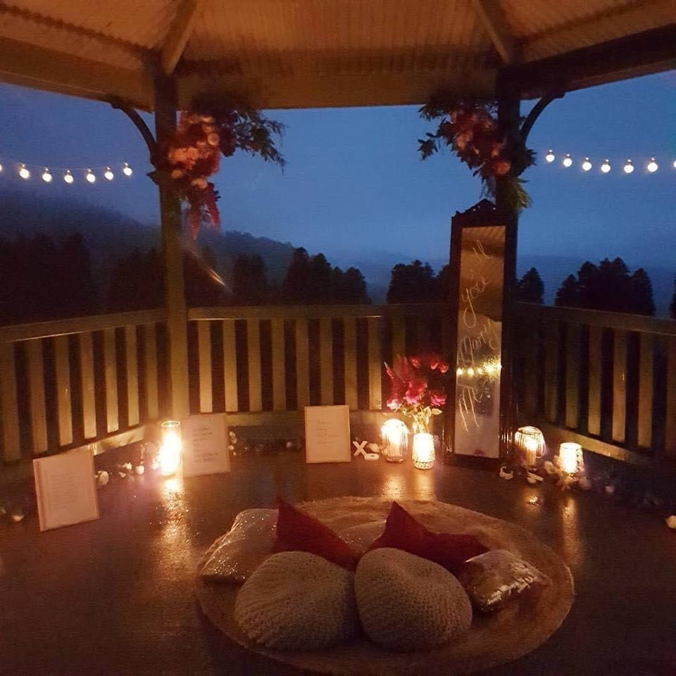 Romantic proposal setting