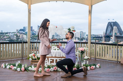 Proposal with her favorite colours