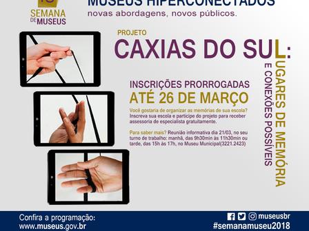 MEMORIAL GAZOLA PARTICIPANDO DA 16ª SEMANA DOS MUSEUS DE 14 A 20/05.