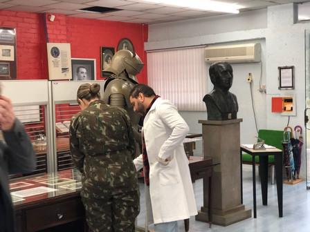 MEMORIAL GAZOLA - MUSEU DA METALURGIA DE CAXIAS DO SUL RECEBEU VISITA DE MILITARES DO TERCEIRO GRUPO