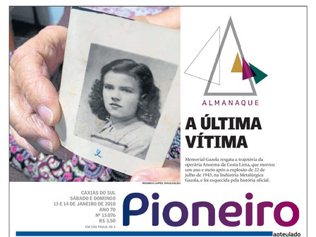 Memorial Gazola e a grande explosão de 1943 são tema de matéria especial no jornal Pioneiro