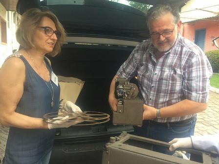 Memorial Gazola recebe doação de projetor de filmes 16mm utilizado pela empresa durante a Segunda Gu