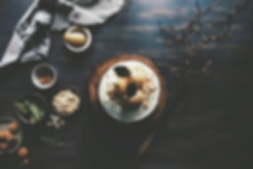 Pie ronde sur la table