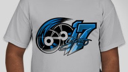 6017 Icy Grey And Blue Tee