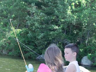 A family fishing trip.