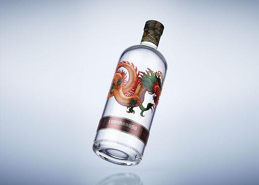 dragon, sake, label design, suckerpunch,