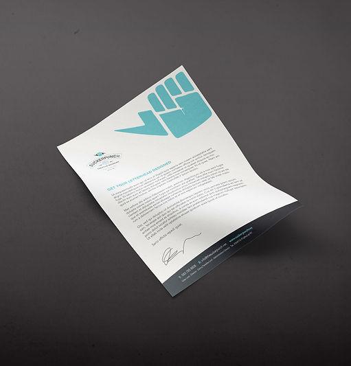 logo design, letterhead, stationery, graphic design, cape town, suckerpunch,