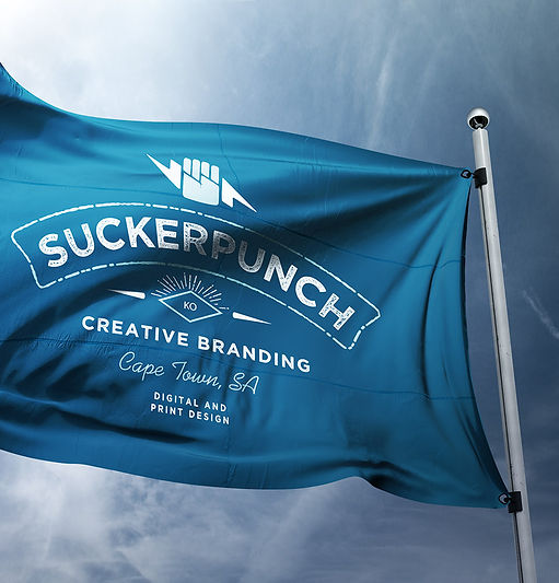 flag design, outdoor signage, graphic design, branding, cape town, suckerpunch