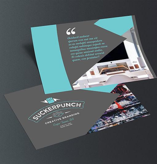 branding, flyer design, stationery, graphic design, cape town, suckerpunch,