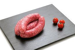 Saucisse fraiche de ménage fabrication artisanale,, Comptoir des Salaisons, Provence Charcuterie