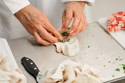 pieds et Paquets roulés à la main -Comptoir des Salaisons  Provence Charcuterie