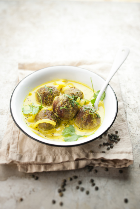 Boulettes agneau sauce curry
