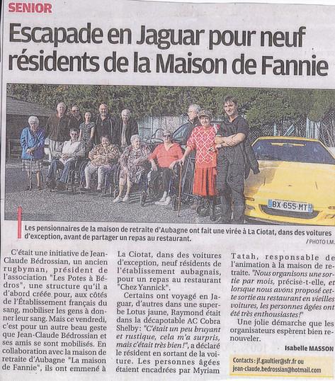 Escapade en Jaguar pour neuf résidents de la maison de Fannie