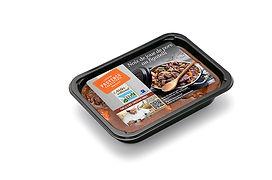 Barquette 2 parts de noix de joue de porc au figatelli, plats cuisines provencaux, fabriqués artisanalement, longuement mijotés, spécialité provencale, gastronomie provencale, Comptoir des Salaisons, Provence Charcuterie