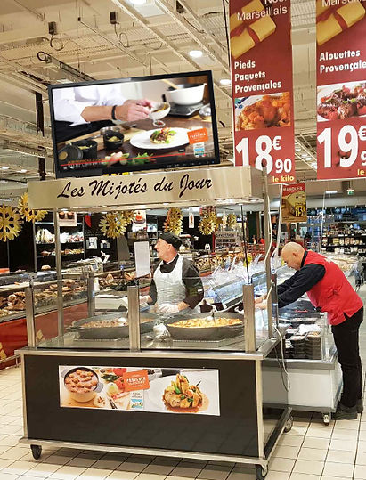 Animation Produits festifs, plats cuisinés , animations, magasin, mise en avant, Provence, Charcuterie, Comptoir des Salaisons, gastronomie provencale