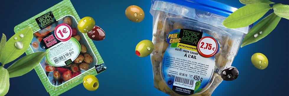 barquette olives promo, jarre olive promo