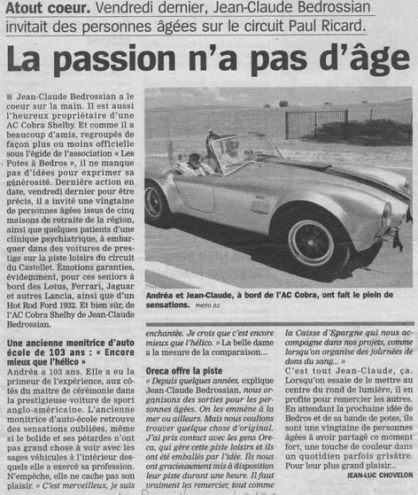 La passion n'a pas d'âge