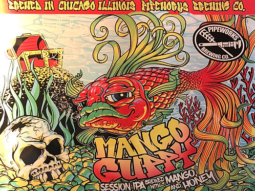 Mango Guppy Metal Print