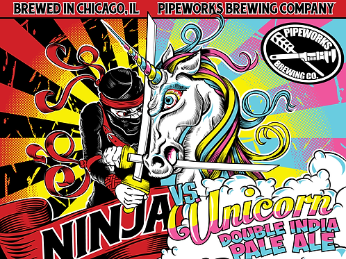 Ninja vs. Unicorn Poster