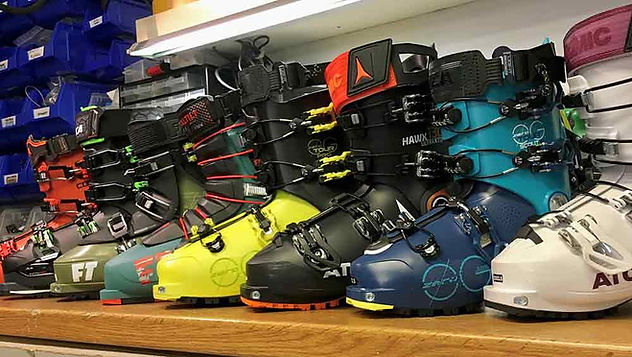 selection of new ski boots for winter 2019