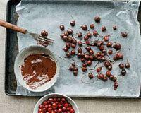 Dark Chocolate Cranberry Walnut Bark