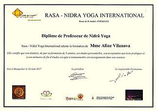 Diplôme de Professeur de Nidrâ Yoga 2017