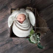 séance artistique bébé studio photo