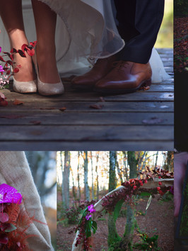 Mariage automne forêt
