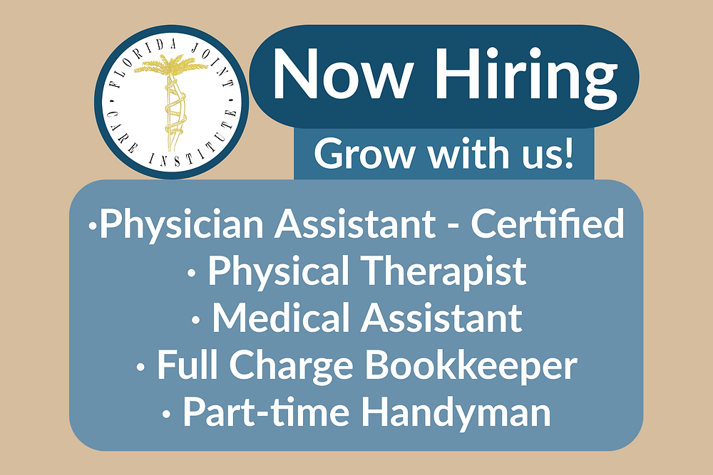 Now hiring- physician assistant, medical assistant, bookkeeper, handyman